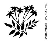 hand drawn silhouette jasmine...   Shutterstock .eps vector #1977157748