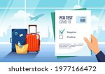 tourist waiting for departure... | Shutterstock .eps vector #1977166472