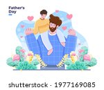 happy father's day illustration ... | Shutterstock .eps vector #1977169085