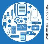 vector set of flat medical... | Shutterstock .eps vector #197717552