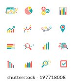 analysis icons on white... | Shutterstock .eps vector #197718008