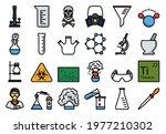 chemistry icon set. editable...