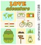 love adventure set | Shutterstock .eps vector #197721188