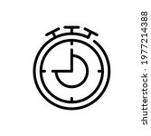 stopwatch icon vector... | Shutterstock .eps vector #1977214388