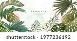 abstract art tropical leaves... | Shutterstock .eps vector #1977236192