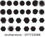 grunge shapes | Shutterstock .eps vector #197725088