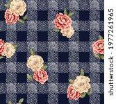 orange and cream vector flowers ... | Shutterstock .eps vector #1977261965