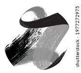 curved brush stroke . vector... | Shutterstock .eps vector #1977272975
