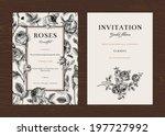 floral vector vertical vintage... | Shutterstock .eps vector #197727992