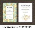 floral vector vertical vintage...   Shutterstock .eps vector #197727995