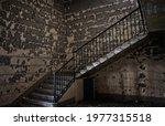 Stairs In A Abandoned Interior...