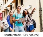 multi ethnic friends tourists... | Shutterstock . vector #197736692