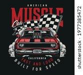 american custom car colorful... | Shutterstock .eps vector #1977385472