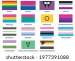 flags of the lgtbiqa   groups. ...   Shutterstock .eps vector #1977391088