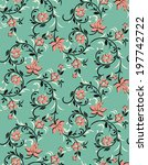 seamless pattern with beautiful ... | Shutterstock .eps vector #197742722