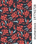 seamless pattern with beautiful ... | Shutterstock .eps vector #197742728