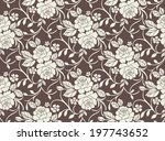seamless pattern with beautiful ... | Shutterstock .eps vector #197743652