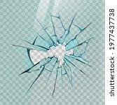 broken glass. realistic crack...   Shutterstock .eps vector #1977437738