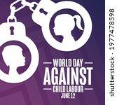 world day against child labour. ...   Shutterstock .eps vector #1977478598