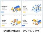 warehouse logistic tech service ... | Shutterstock . vector #1977479495