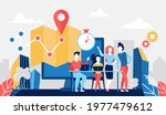 delivery logistic service... | Shutterstock . vector #1977479612