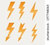 lightning icon flat design long ... | Shutterstock .eps vector #197748065