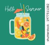 summer scene  woman diving fun... | Shutterstock .eps vector #1977511382