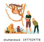flat composition with zoo... | Shutterstock .eps vector #1977529778