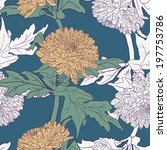 seamless pattern with... | Shutterstock .eps vector #197753786