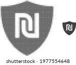 shekel guard halftone dotted...   Shutterstock .eps vector #1977554648