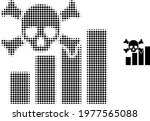 death chart halftone dotted...   Shutterstock .eps vector #1977565088