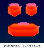 game ui gui set polygonal red...