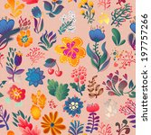 flowers seamless pattern... | Shutterstock .eps vector #197757266