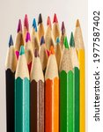 Colored Pencils Standing...