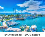 the main port of kos island in... | Shutterstock . vector #197758895