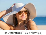 Smiling Woman On Vacation With...