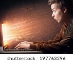 notebook explosion   Shutterstock . vector #197763296