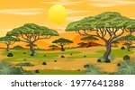african savanna forest... | Shutterstock .eps vector #1977641288