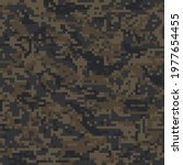 Brown Pixel Military Camouflage ...