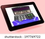 hot deal calculator tablet... | Shutterstock . vector #197769722