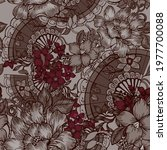 beautiful seamless pattern with ... | Shutterstock . vector #1977700088