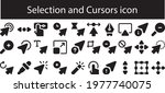 selection and cursors icon set... | Shutterstock .eps vector #1977740075