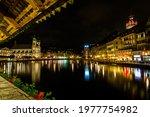 Night Scene Of City In Lucerne...