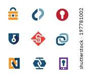 internet home secure lock...   Shutterstock .eps vector #197781002