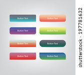 web buttons | Shutterstock .eps vector #197781632