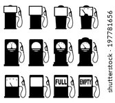set of icons of petrol station. ... | Shutterstock . vector #197781656