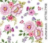 seamless flower  pattern on... | Shutterstock .eps vector #1977817958