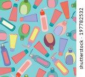 cosmetic bottles pattern | Shutterstock .eps vector #197782532