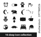 sleep icons | Shutterstock .eps vector #197788526