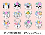 collection of  stickers of hand ... | Shutterstock .eps vector #1977929138